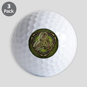 Green Celtic Triquetra Golf Balls