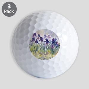 SQ Purp Irises for CP shower curtain Golf Balls
