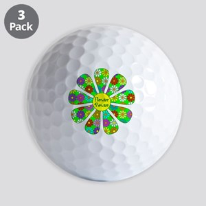 Cool Flower Power Golf Balls