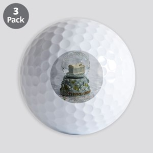 Athens Snowglobe - Golf Balls