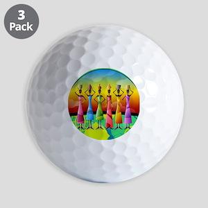 African American Women Golf Balls