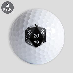 d20 t-shirt Golf Balls