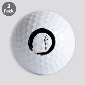 Enso Open Circle with Kanji for Artist Golf Balls