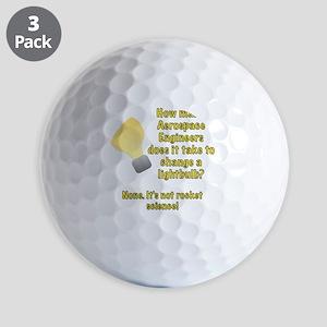 Aerospace Engineer Lightbulb Joke Golf Balls