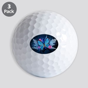 blue butterfly Golf Ball