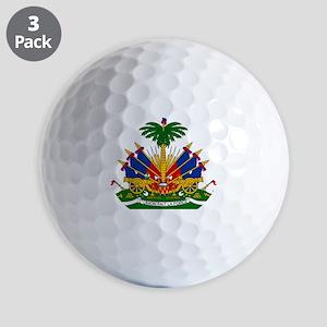 Coat of arms of Haiti - Emblème d'Haïti Golf Balls
