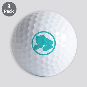 Teal Skate Golf Balls