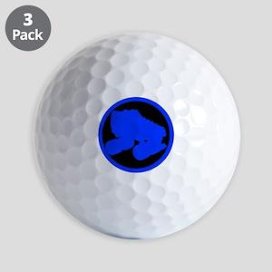 Circle Skate Blue Golf Balls