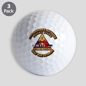 Army - DS - 2nd AR Div Golf Balls