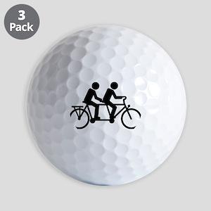 Tandem Bicycle bike Golf Balls