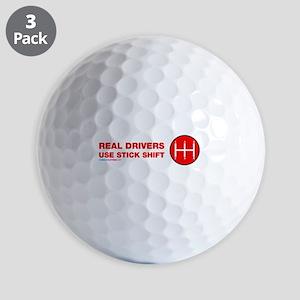 Real Drives Use Stick Shift Golf Ball