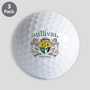 Sullivan Irish Coat of Arms Golf Balls