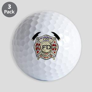 Maltese Cross with American Flag backgr Golf Balls
