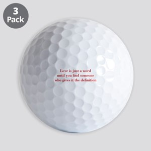 Love-is-just-a-word-BOD-RED Golf Ball