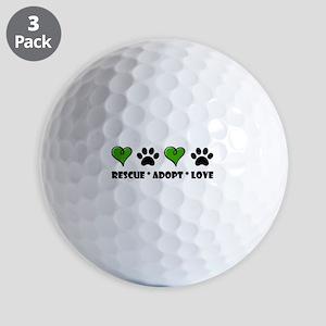 Rescue*Adopt*Love Golf Balls