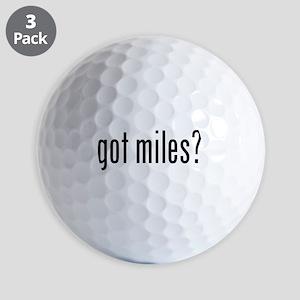 got miles? Golf Ball