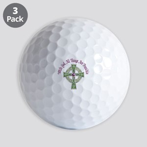 ALL THINGS POSSIBLE Golf Ball