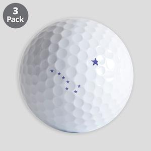 Faded Alaska State Flag Golf Ball