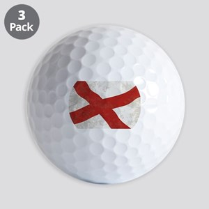 Alabama Sate Flag Grunge Golf Balls