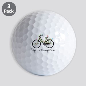 Life is a beautiful ride Golf Ball