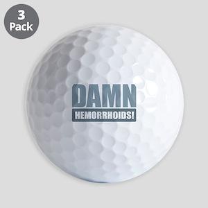 Damn Hemorrhoids! Golf Balls