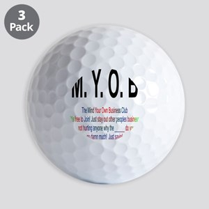 M.YO.B Club Golf Balls