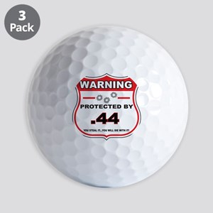 protected by 44 shield Golf Ball