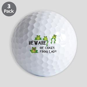 Beware of Crazy Frog Lady Golf Balls