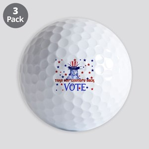 Vote Democratic Golf Balls