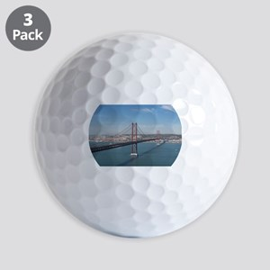 Red Bridge over the River Golf Balls