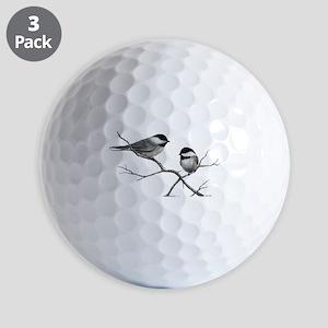 chickadee song bird Golf Balls