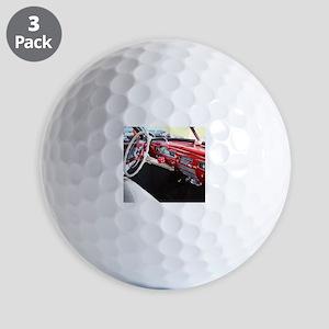 Classic car dashboard Golf Balls