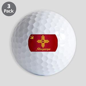 Albuquerque City Flag Golf Balls