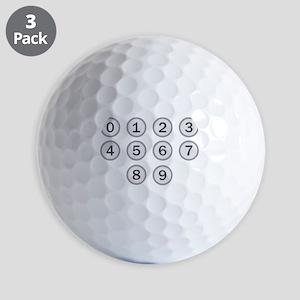 Typewriter Keys Numbers Golf Balls