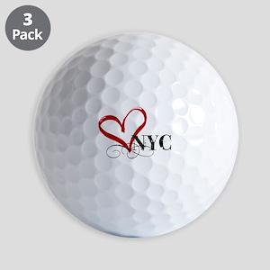 LOVE NYC FANCY Golf Balls