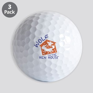Wolf In The Hen House Golf Ball