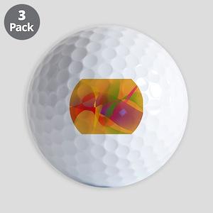 Digital Kandinsky Emulation Golf Ball