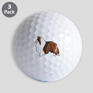 sable sheltie Golf Ball