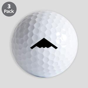 Stealth Bomber Silhouette Golf Balls