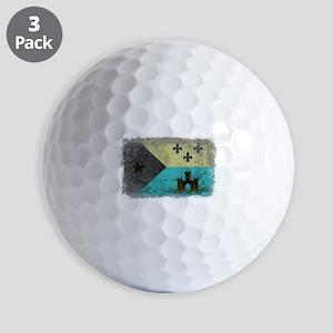 Vintage Grunge Acadian Flag Golf Balls