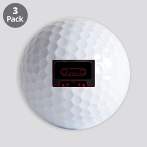 Black Audio Cassette Golf Balls
