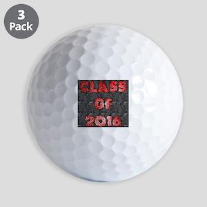 Class of 2016 - red graffiti on tech wa Golf Balls