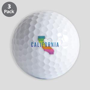 California Heart Rainbow Golf Balls