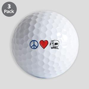 Peace Love & Camping Golf Balls