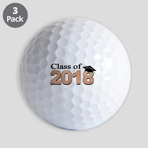 Class of 2018 Glitter Golf Ball