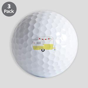 Vintage Camper Golf Ball