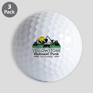 YELLOWSTONE NATIONAL PARK WYOMING MOUNT Golf Balls