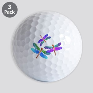 Dive Bombing Iridescent Dragonflies Golf Balls