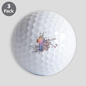 Colorful Cross Golf Balls
