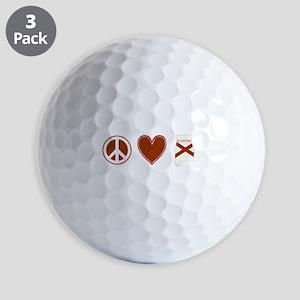 Peace Love Alabama Golf Balls
